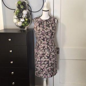 Lavender & Gray Print Dress Sz 4